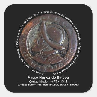 Vasco Núñez de Balboa Calcomanías Cuadradas