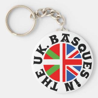 Vascos en el Reino Unido Llavero Personalizado