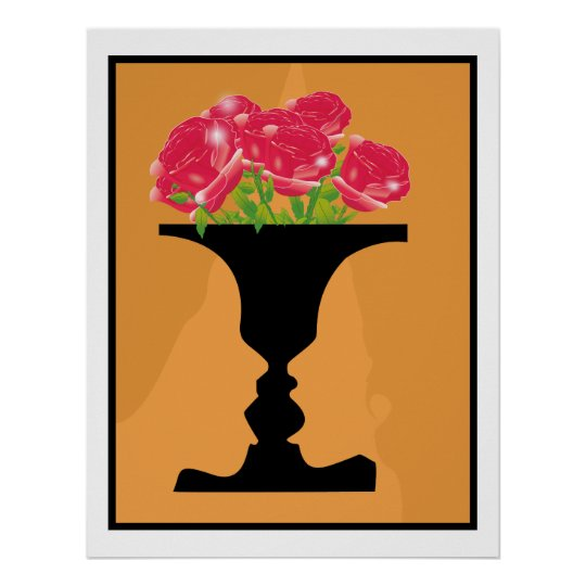 vase and faces poster