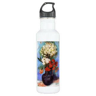 Vase Carnations Other Flowers Vincent van Gogh Stainless Steel Water Bottle