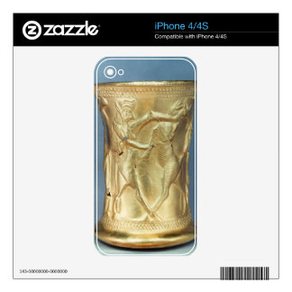 Vase decorated with mythological creatures, Persia iPhone 4 Decals