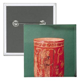 Vase depicting a ceremonial scene, Tepeu 1 Period Button
