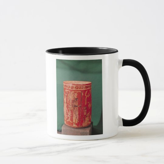 Vase depicting a ceremonial scene, Tepeu 1 Period Mug