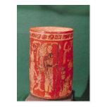 Vase depicting a ceremonial scene, Tepeu 1 Period Postcard