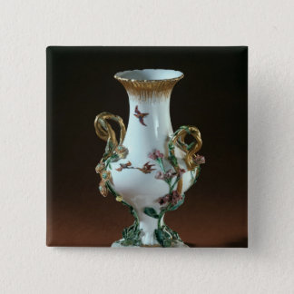 Vase Duplessis' with gold decoration Pinback Button