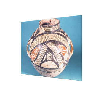 Vase from Dimini (present Volos) 7th century BC (p Stretched Canvas Prints