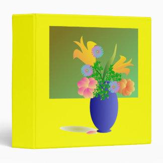 Vase Full of Bright flowers 3 Ring Binder