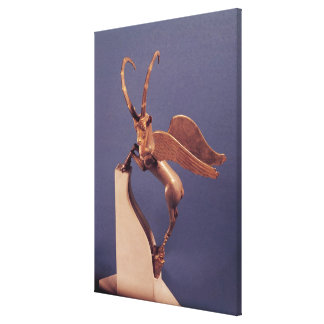 Vase handle in the form of a winged ibex canvas print