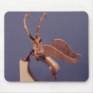 Vase handle in the form of a winged ibex mouse pad