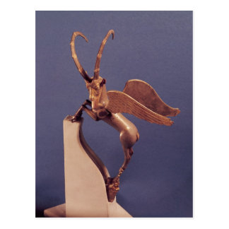 Vase handle in the form of a winged ibex postcard