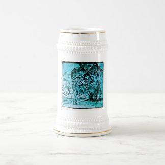 vase head beer stein