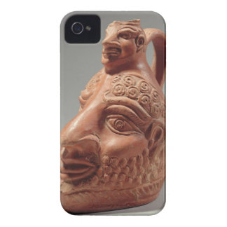 Vase in shape of double head, c.400 AD (pottery) iPhone 4 Covers