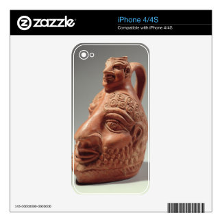 Vase in shape of double head, c.400 AD (pottery) iPhone 4S Skins