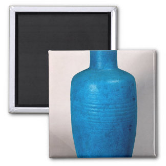 Vase in the form of a straight necked bottle magnet