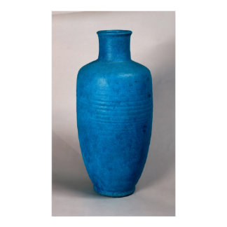 Vase in the form of a straight necked bottle poster