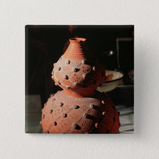 Vase in the shape of a gourd pinback button