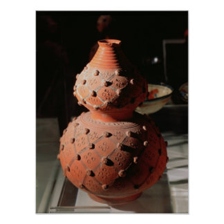 Vase in the shape of a gourd poster