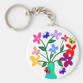 Vase n Flowers key chain
