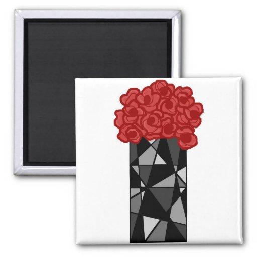 Vase n flowers magnet