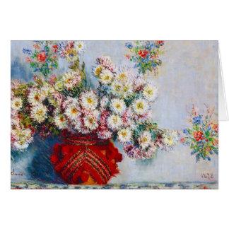 Vase of Chrysanthemums Claude Monet Card