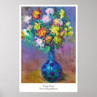 Vase of Chrysanthemums Claude Monet painting Poster