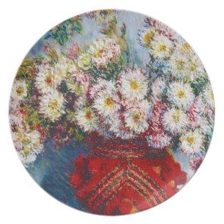 Vase of Chrysanthemums Claude Monet Dinner Plates