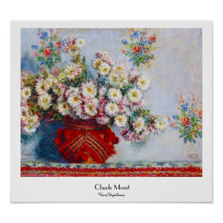 Vase of Chrysanthemums Claude Monet Poster
