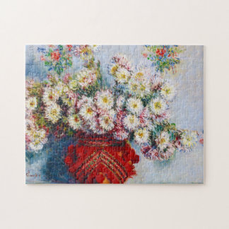Vase of Chrysanthemums Claude Monet Puzzles