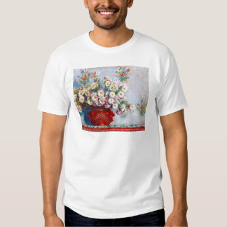 Vase of Chrysanthemums Claude Monet Tee Shirt