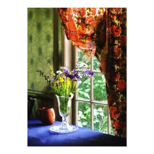 Vase of Flower and Mug By Window Card