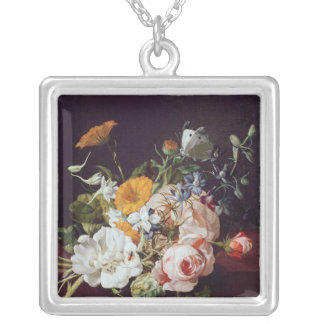 Vase of Flowers, 1695 Silver Plated Necklace
