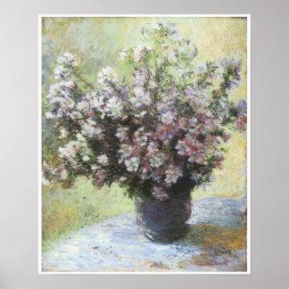 Vase of Flowers, 1880, Claude Monet Poster