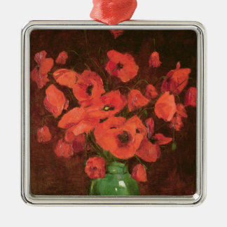 Vase of Flowers 2 Metal Ornament