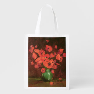 Vase of Flowers 2 Reusable Grocery Bag