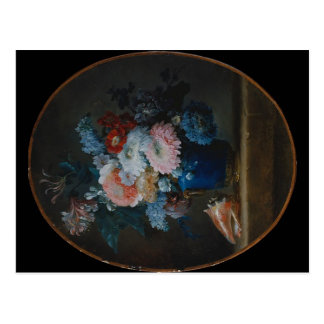 Vase of Flowers and Conch Shell 1780 Postcard