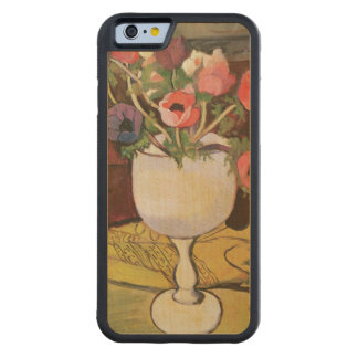 Vase of Flowers, Anemones in a White Glass Carved Maple iPhone 6 Bumper Case