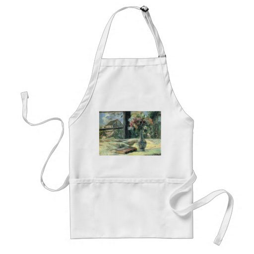 Vase of Flowers at the Window - 1881 Adult Apron