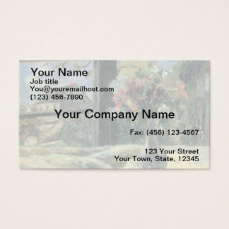 Vase of Flowers at the Window - 1881 Business Card