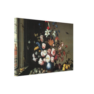 Vase of Flowers by a Window, Balthasar van der Ast Gallery Wrapped Canvas