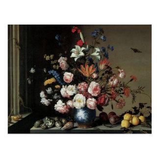 Vase of Flowers by a Window, Balthasar van der Ast Post Cards