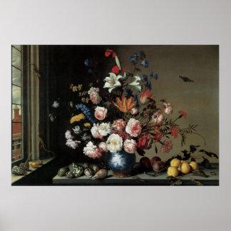 Vase of Flowers by a Window Balthasar van der Ast Print