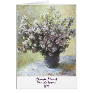 Vase of Flowers by Claude Monet Greeting Card