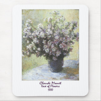 Vase of Flowers by Claude Monet Mouse Pad