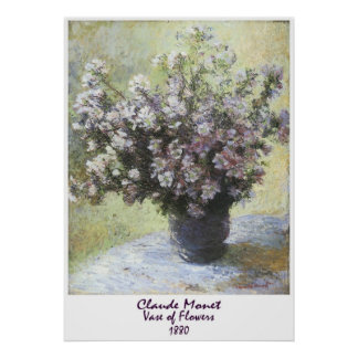 Vase of Flowers by Claude Monet Poster