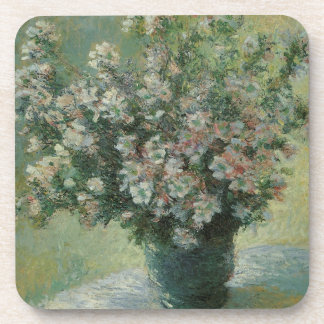 Vase of Flowers by Claude Monet, Vintage Fine Art Drink Coaster