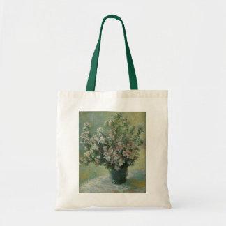 Vase of Flowers by Claude Monet, Vintage Floral Canvas Bag