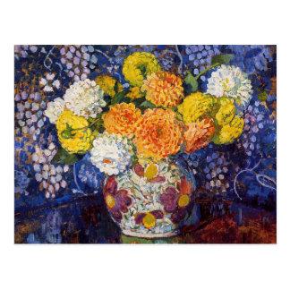 Vase of Flowers by Theo van Rysselberghe Postcard