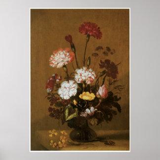 Vase of Flowers in Brown Posters