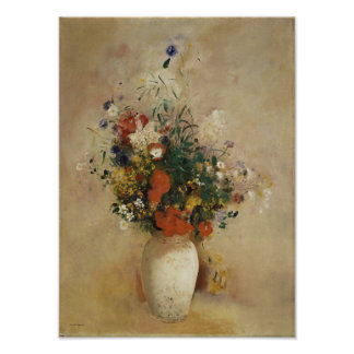 Vase of Flowers, Odilon Redon Fine Art Poster