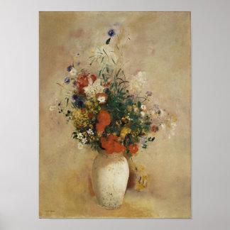 Vase of Flowers Odilon Redon Print